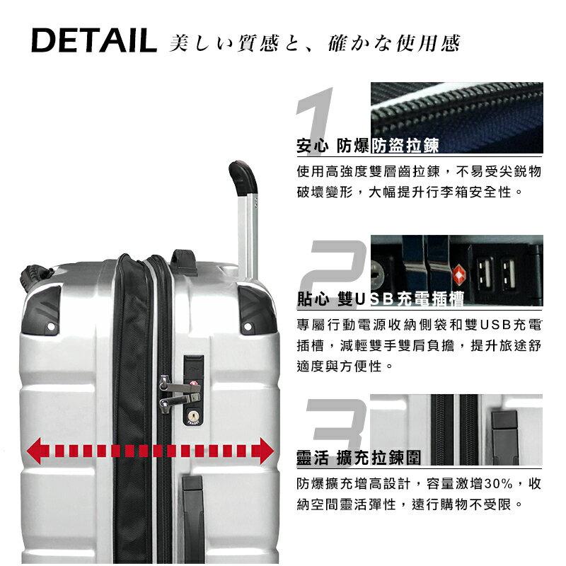 日本 GripMaster 24吋 閃電輕騎士 雙把手拉鍊式硬殼行李箱-2色可選 4