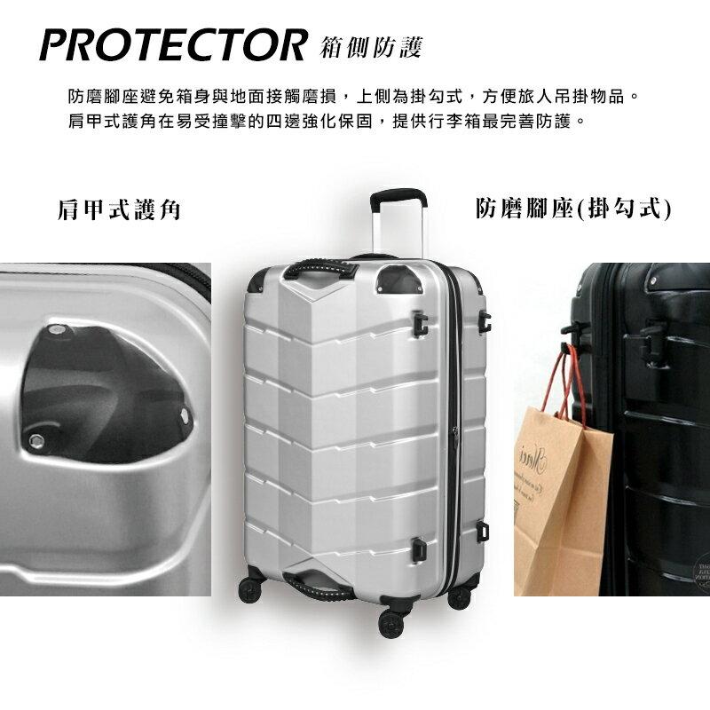 日本 GripMaster 24吋 閃電輕騎士 雙把手拉鍊式硬殼行李箱-2色可選 5