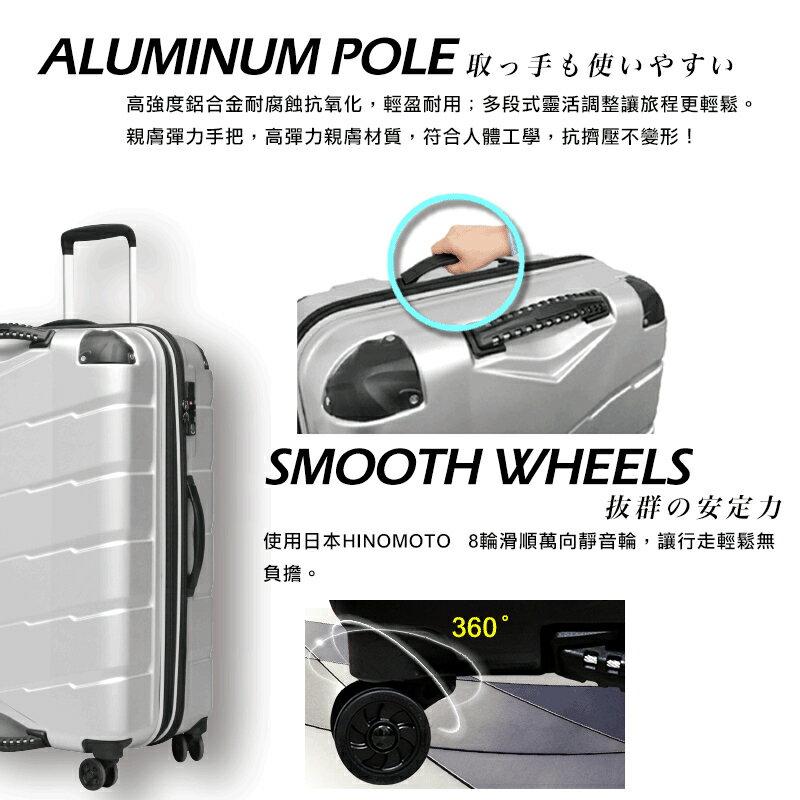 日本 GripMaster 24吋 閃電輕騎士 雙把手拉鍊式硬殼行李箱-2色可選 6