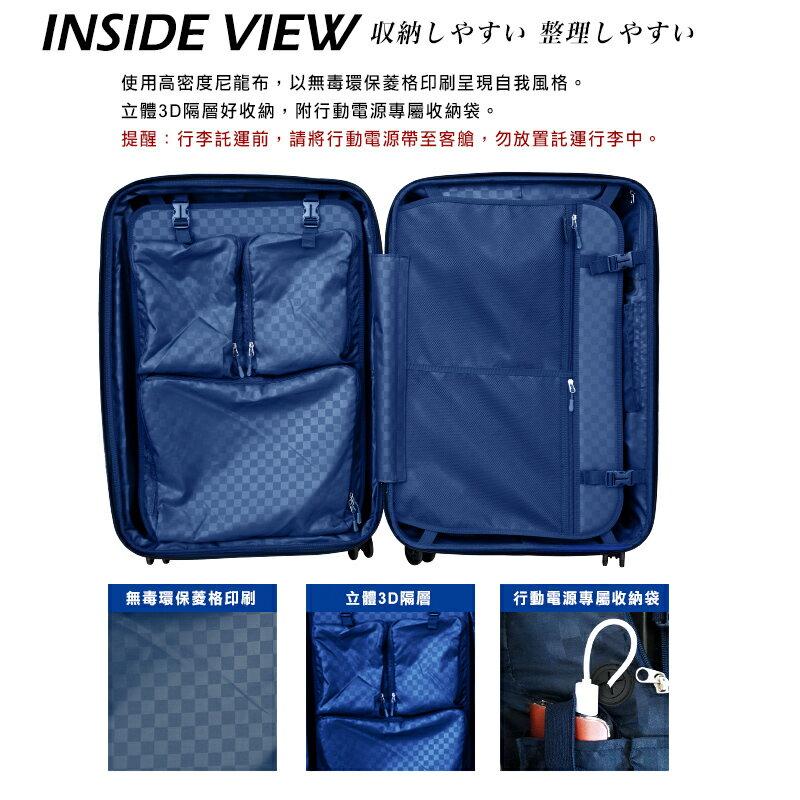 日本 GripMaster 24吋 閃電輕騎士 雙把手拉鍊式硬殼行李箱-2色可選 7