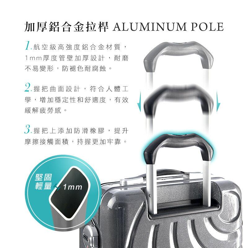 SKY ROVER 26吋魔幻星辰鋁框硬殼行李箱-星空銀 5