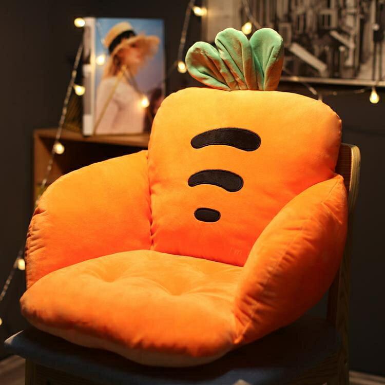 坐墊靠墊壹體久坐椅屁股椅墊厚墊子靠背座墊