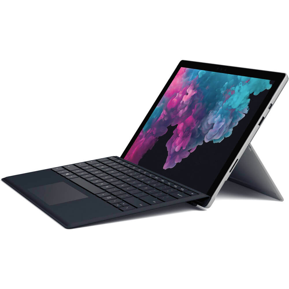 Microsoft NKR00001 Surface Pro 6 12 3″ - Core i5 - 8 GB RAM - 128 GB SSD -  Platinum - includes type cover (black