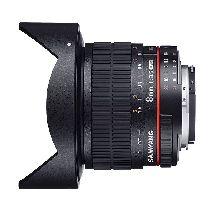 Samyang鏡頭專賣店:8mm/F3.5 II Fisheye for Canon EOS (魚眼 600D 650D 60D)(保固二個月)