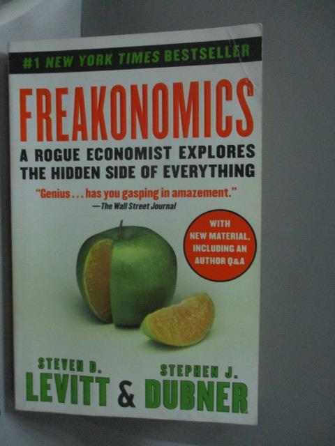 ~書寶 書T1/原文書_IQX~Freakonomics~A Rogue Economis