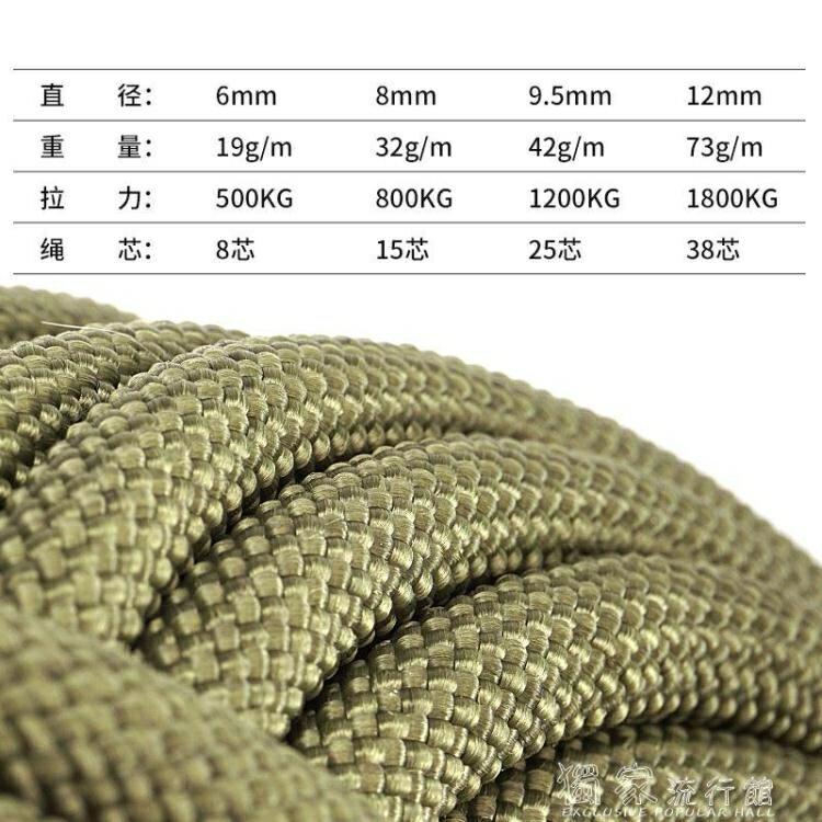 傘繩坎樂高空登山繩子戶外安全繩救生繩耐磨救援攀巖繩索求生裝備用品