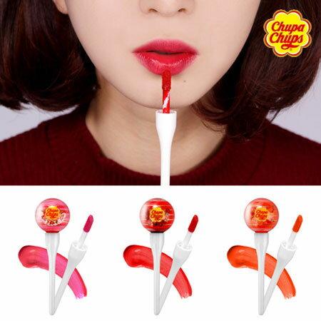 韓國 Chupa Chups 棒棒糖唇釉 唇彩 唇蜜 染唇釉 唇釉 加倍佳 棒棒糖【B062562】