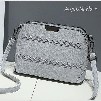 (現貨)斜背包。AngelNaNa韓版 編織 女側背包 小包包【B167】