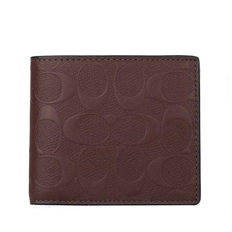 COACH F75371 男士男包短款端架漆皮時尚對折錢包錢夾 1
