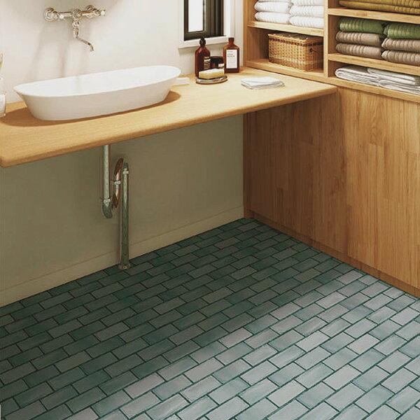 藍灰磚紋地板卷材客廳廚房SE-3071
