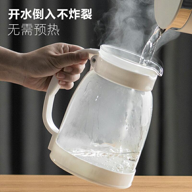 天喜冷水壺玻璃耐高溫防爆泡茶壺涼白開水杯套裝 雙十一