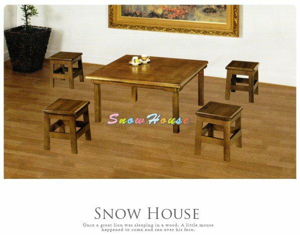 ╭☆雪之屋居家生活館☆╯AA583-05 AR-01A和室桌3*3尺(深色)/餐桌/電腦桌/工作桌/書桌(不含椅子)