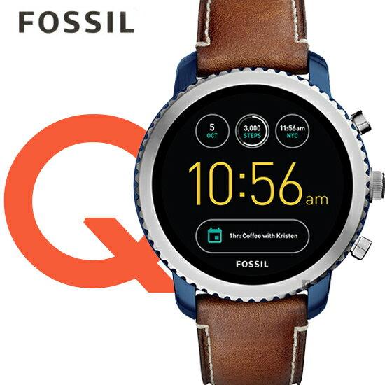 FOSSIL美國品牌池昌旭代言QEXPLORIST系列觸控智能手錶FTW4004公司貨