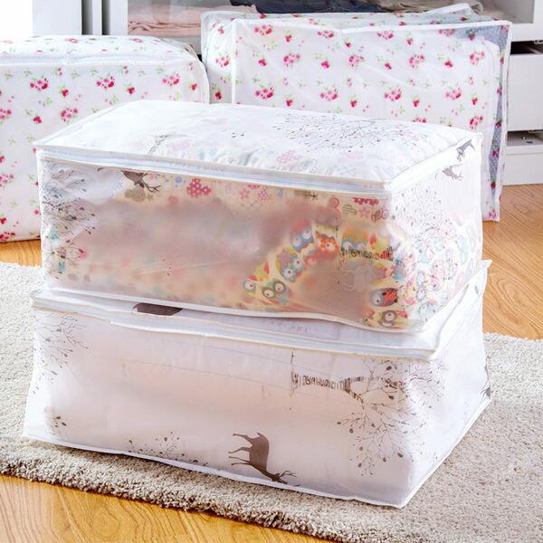 日系印花棉被收納袋衣物整理袋換季收納袋軟式收納袋單售