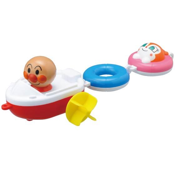 麵包超人 划水車船 兒童玩具 轉動頭就可動 可在浴室玩 帶回 品