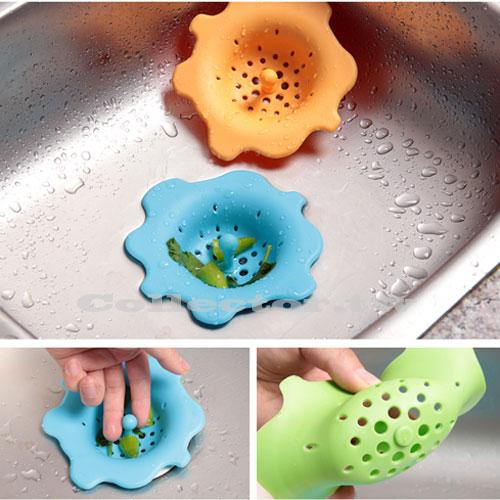 【F15051902】手提矽膠排水口過濾網 浴室廚房地漏過濾網 下水道水槽地漏蓋