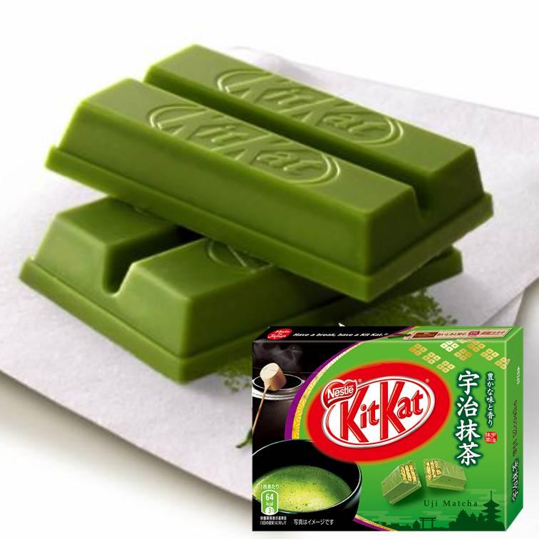 【限定發售】KitKat宇治抹茶巧克力餅乾 3枚入ネスレ キットカット宇治抹茶【建議選用低溫宅配】▶滿699立折69▶全館滿499免運