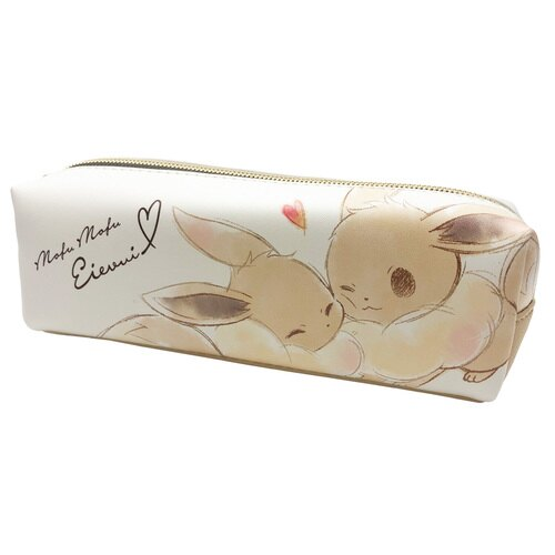 大賀屋 日貨 伊布 筆袋 筆盒 化妝包 收納包 盥洗包 包包 防水包 鉛筆盒 神奇寶貝 文具 正版 J00040154