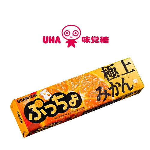 【即期良品】【UHA味覺糖】 噗啾極上橘子條糖 50g 賞味期限:2017/05/31