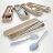 環保多功能餐具 攜帶式餐具組 筷子湯匙叉子三件套【WS0506】 BOBI  09/22 0