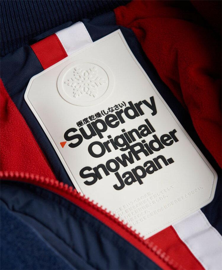 [男款]英國代購 極度乾燥 Superdry Snow Rider 立領 刷毛 防寒防風水滑雪衣系列 風衣雪地騎士 深藍/紅色 4