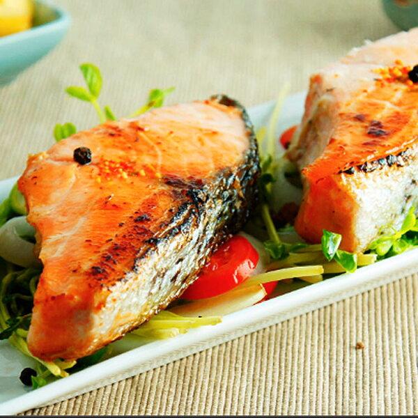 【免運】鮭鱈鯖三拼鮭魚切片360g鱈魚切片400g薄鹽鯖魚220g【家適海鮮】家庭海鮮第一首選!全館四件免運
