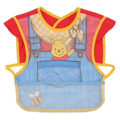 日本㊣ Disney 迪士尼 小熊維尼 經典防水圍兜 *夏日微風*