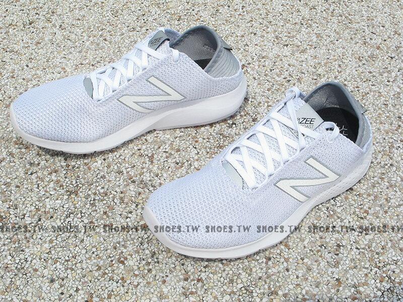 《下殺6折》Shoestw【WCOASAC2】NEW BALANCE 慢跑鞋 全白 編織 女生尺寸 NB 1