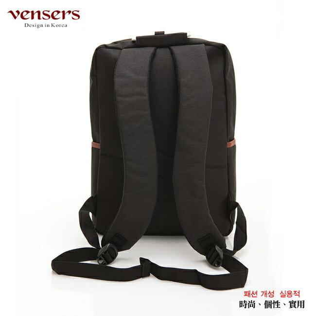 【vensers】簡約丹寧牛仔後背包(R00066101黑色) 1
