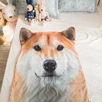居家生活寢具推薦涼被 仿真柴犬/哈士奇/黃金獵犬/牧羊犬/鬥牛犬 療癒系動物被毯 寵物涼被 生日禮物  約80cm X 115cm 每隻造型不同,大小略有差異 好窩生活節。就在棉床本舖Annahome居家生活寢具推薦