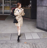 風衣外套推薦到現貨!1件就免運-韓系 女裝 chic翻領純色中長款風衣外套 / 樂天時尚館。就在樂天時尚館推薦風衣外套