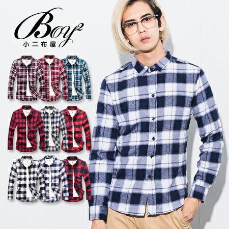 ☆BOY-2☆【NQ97012】美式休閒法蘭絨格紋長袖襯衫(XL.XXL) 2