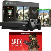 Deals on Microsoft Xbox One X 1 TB Console w/Division 2 + Apex Legends