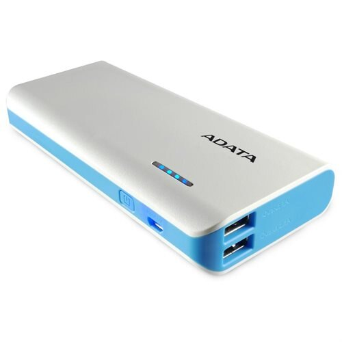 ADATA PT100 10000mAh Power Bank with LED Lighting White/Blue (APT100-10000M-5V-CWHBL) 1