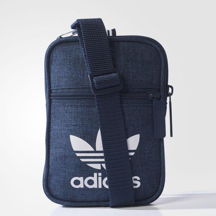 848104a7eb ADIDAS FEST BAG CASUAL-OR 侧背包腰包手机包丹宁蓝 运动