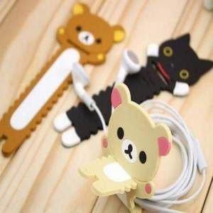 =優生活=韓國文具 拉拉熊 懶懶熊 靴下貓 鋸齒型耳機繞線器 理線器