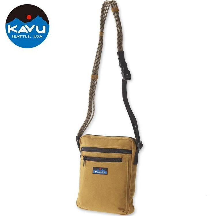 KAVU Zippit 休閒肩背包/側背包/隨身包/方包 873-91 菸草黃