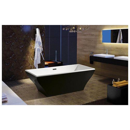 AKDY Bathroom White Color Freestanding Acrylic Bathtub AK-F296B 0
