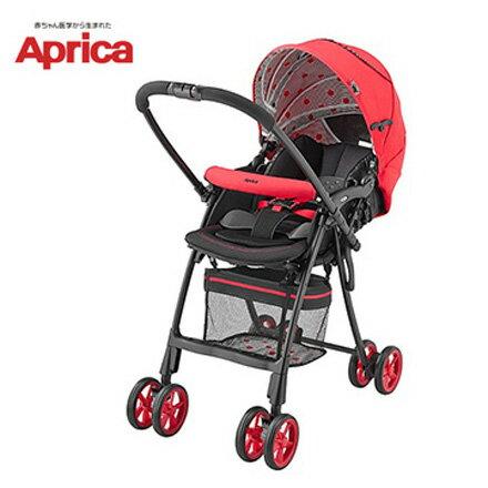 【狂降出清】Aprica愛普力卡FLYLE飛舞系列挑高輕量推車-櫻花紅【悅兒園婦幼用品館】