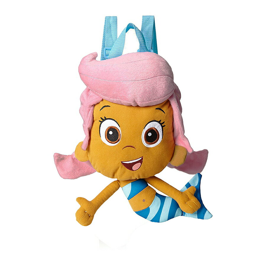 "Bubble Guppies ""Molly's Here"" Plush Backpack Kids Bag with Zipper Pouch 0"
