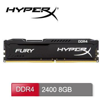 Kingston 金士頓8GB/D4/2400 HyperX Fury ( HX424C15FB2/8 ) ★★★ 全新原廠公司貨含稅附發票★★★