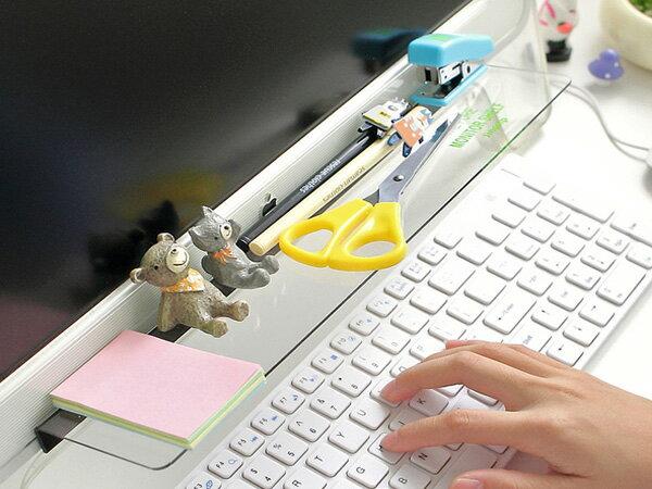 BO雜貨【SV6179】創意DIY 電腦螢幕顯示器收納架 文具桌面整理收納 公仔展示架 螢幕留言板貼