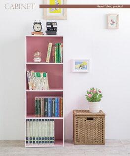TZUMii:收納收納櫃書櫃TZUMii粉紅四空櫃