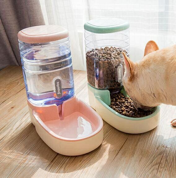 寵物餵食器 狗狗飲水器寵物自動喂食器貓咪喝水器掛式水盆神器【快速出貨八折下殺】