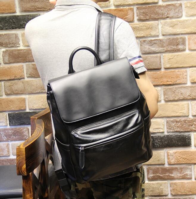 FINDSENSE Z1 韓國 時尚 潮 男 皮質 休閒商務 電腦包 旅行包 學生包 書包 後背包 雙肩包