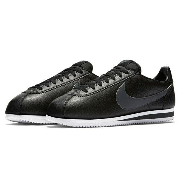 【NIKE】CLASSIC CORTEZ LEATHER 休閒鞋 阿甘鞋 黑色 (男) -749571011 0