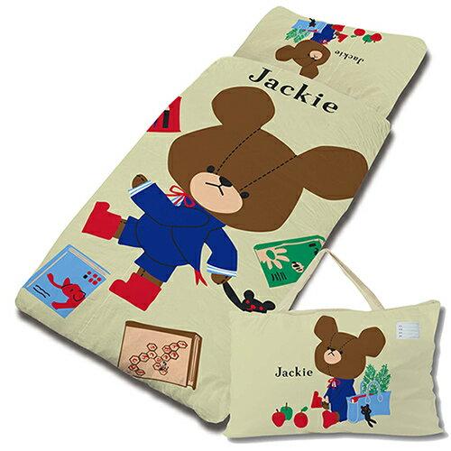 【享夢城堡】小熊學校 讀書樂系列-兒童睡袋(綠)