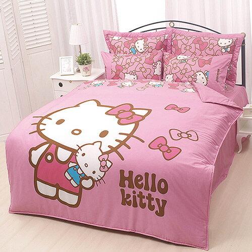 HELLO KITTY 我的娃娃系列-單人純棉三件式床包涼被組