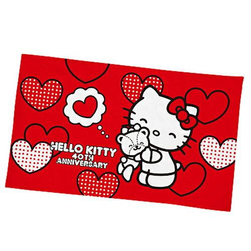 【享夢城堡】信封枕套75x45cm二入組-HELLOKITTY40周年紀念-紅