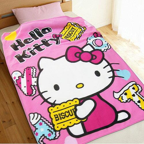 【享夢城堡】薄刷毛空調毯100x150cm-HELLOKITTY甜蜜滋味